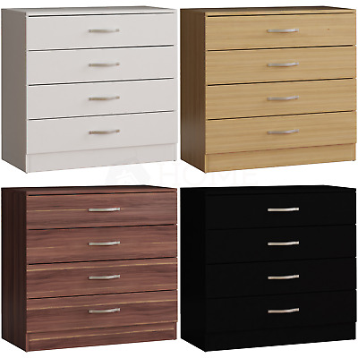 Riano 4 Drawer Chest Wood Metal Handles Bedroom Storage Furniture Unit