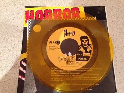 "The Misfits Horror Business First Press Original 7"" yellow vinyl record"