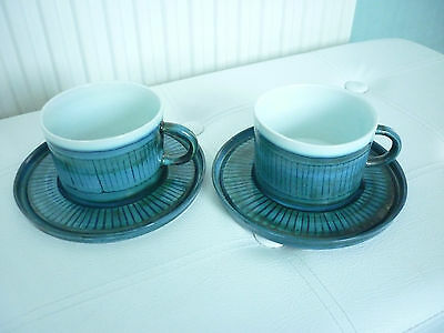 Superb Rare Troika St. Ives Cup & Saucer X 2.