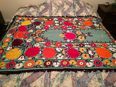"Vintage 1970's ""coverlet"" From Afghanistan- Beautiful Double Sided  Hand Crafted"