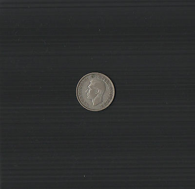 1939 King George VI .500 Silver Two Shillings Coin