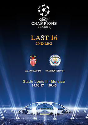 Programme Pirate Monaco Manchester City Cl Champions League 2016 2017
