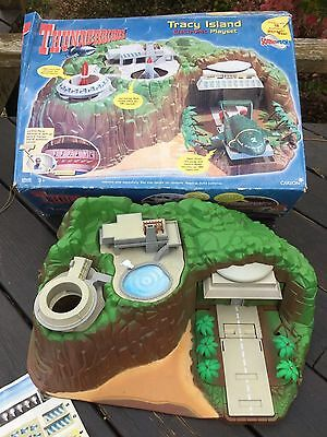 VINTAGE 1999 Thunderbirds Tracy Island Play Set Carlton Soundtech Original Box