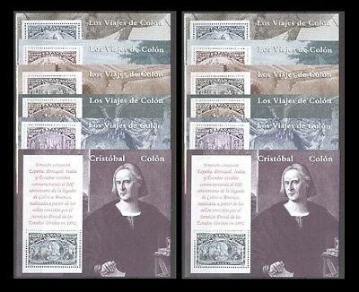 Spain 1992 ** The Voyages of Columbus 6+6 sheets MNH Spagna Colombo 6+6 BF