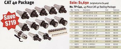 Techniks CNC Cat 40 Tooling Package 43 Pc Collet Chucks