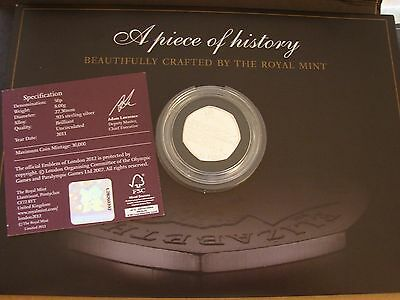 ROWING 2012 LONDON OLYMPIC 50p SILVER PROOF SPORTS COLLECTION