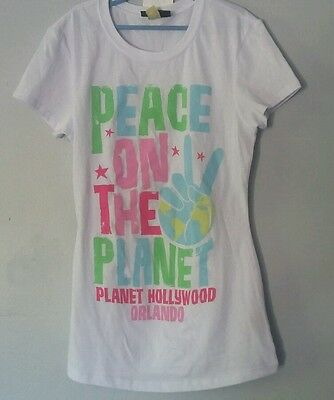 Planet Hollywood Girls Womans Size Small Short Sleeve T Shirt Top