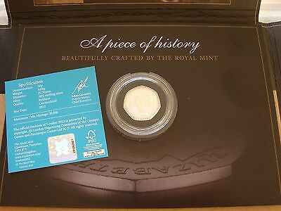 SAILING 2012 LONDON OLYMPIC 50p SILVER PROOF SPORTS COLLECTION