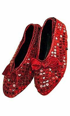 Adult Red Sequin Shoe Cover Wizard of Oz Dorothy Costume Halloween NEW