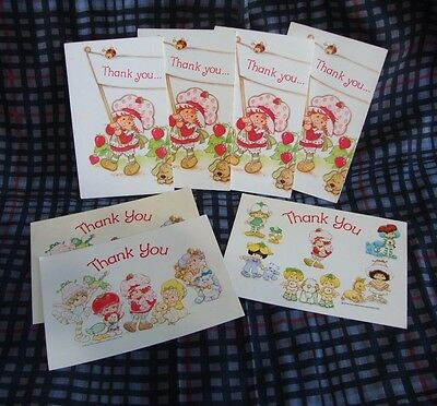 Vintage 1980s Strawberry Shortcake & Friends Thank You Cards & Postcards Lot