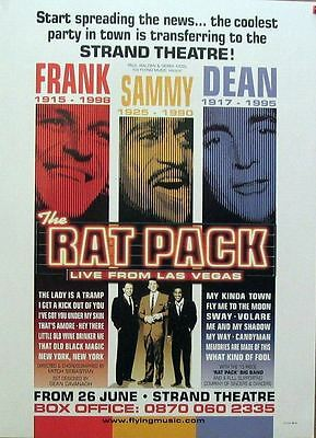 THE RAT PACK live from Las Vegas Tribute strand theatre POSTER rare