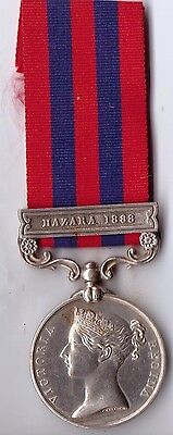 British Campaign India G.s. Medal To Pte.kennedy Royal Irish Regiment