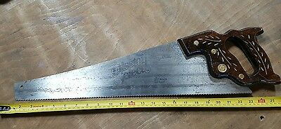 """Disston select hand saw Model D-95 22"""" 10 point"""