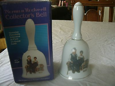 Norman Rockwell~The Lighthouse Keeper's Daughte~Porcelain Collector's Bell 1985