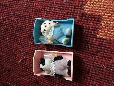Sylvanian Family Baby Badger and Dog
