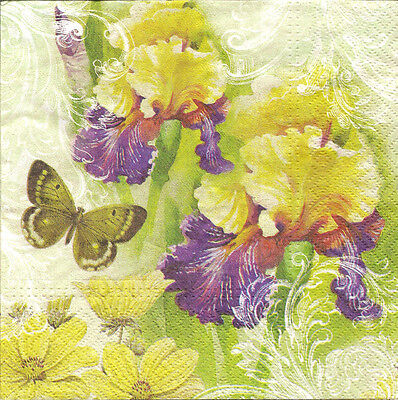 4 Single Table Paper Napkins for Decoupage Alice Girl Flowers Roe Rabbit