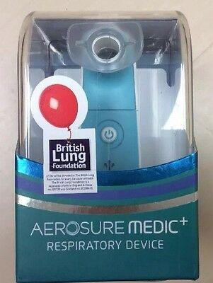 Aerosure Medic+ Respiratory Device, Breath Easier Mucus Relief. New Sealed