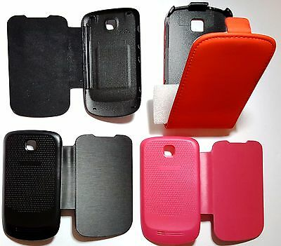 2 pcs x CUSTODIA COVER CASE FLIP LIBRO X Samsung  5570 Galaxy Next 1 PCS flip