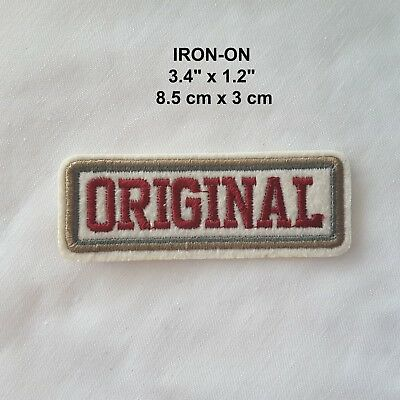 """""""Original"""" Embroidered Iron-on Emblem Badge Born Again Words Patch Word Applique"""