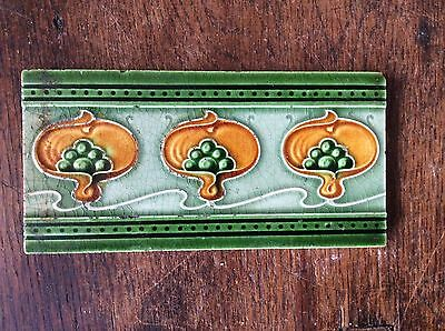 "Original Art Nouveau Tile 3""x 6"" C.1905"