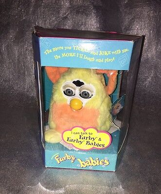 Furby Baby 1999 Tiger Electronics Boxed With Paperwork Still Has Tags Vgc