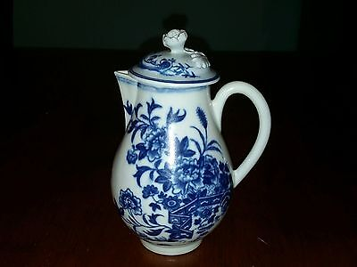 First Period Worcester Sparrow Beak Jug - c1770 - with Rare Lid - 12cm