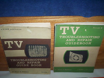 TV Troubleshooting And Repair Guide Book Volume 1 & 2 by Robert G. Middleton