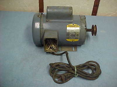 Baldor 3/4 hp Single Phase Industrial Motor 1725 rpm High or Low Voltage
