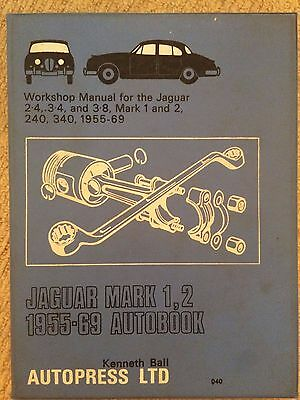Jaguar Mark 1 & 2   -all models  1959-69 Workshop Manuals -Autobook