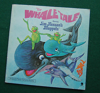 Whale Tale - Jim Henson's Muppets Story Book - Children's, 80s Vintage