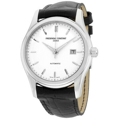 Frederique Constant Classics Silver Dial Leather Strap Men's Watch FC303S6B6
