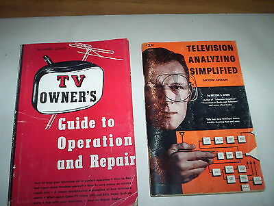 Television Analzying Simplified & TV Owner's Guide to Operation And Repair 1952