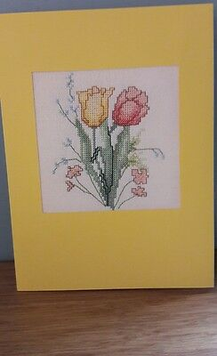 completed cross stitch cards