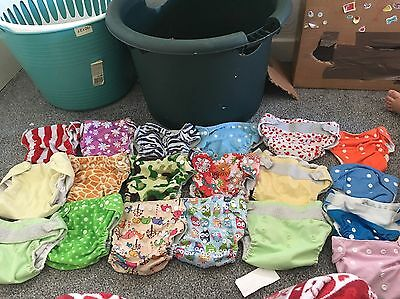 Large Bundle Of Pocket Nappies And Liners/boosters