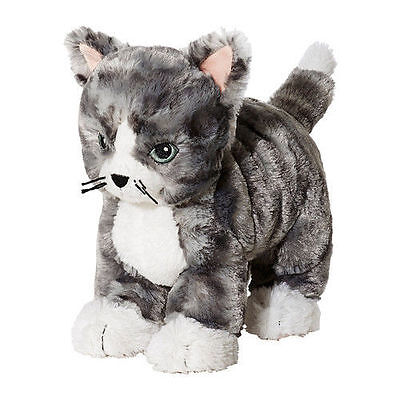 Ikea Soft Toy Cat Lilleplutt Grey Safety For Child, Baby Good At Hugging