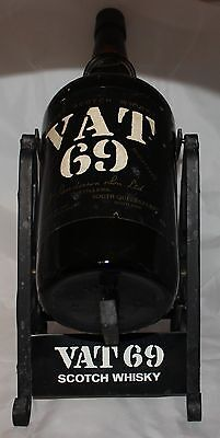Empty VAT 69 Scotch Whisky Bottle with Swing Stand