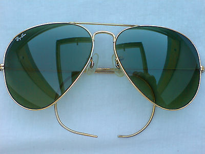 Vintage Ray-Ban B& L  Gold Aviator 62[]14 Ex. Condition
