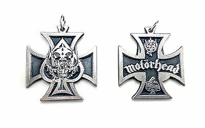 Motorhead Rare doble sided Pendant Necklace Pewter Silver 014 FREE SHIPPING