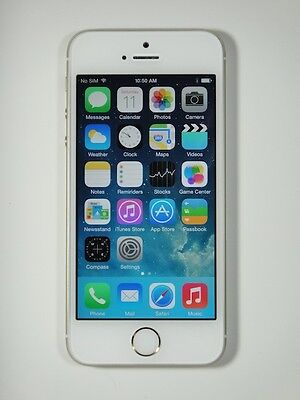 Apple iPhone 5s - 16GB - Silver (Rogers Wireless) Smartphone,Chatr