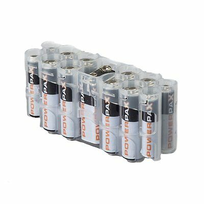 Storacell Powerpax A9 Multi-Pack Battery Caddy, Clear