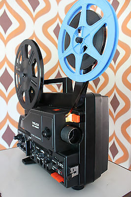 YELCO DS810MT SUPER 8 8MM SOUND RETRO CINE FILM MOVIE PROJECTOR - Pristine condn