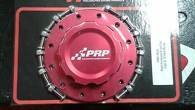 PRP 7616 Fuel Cell Cap Assembly w/ 12 Bolt Bung RCI Jaz Cells Bolt On Red
