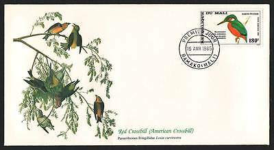 "MALI 1985 Very Fine FDC "" Birds of the World"" Red Crossbill"