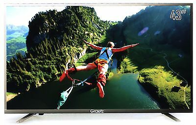 "Smart TV Led 43"" Ultra HD 4K GRAETZ E5600 Monitor PC DVB-T2 C+ HDMI VGA USB WIFI"