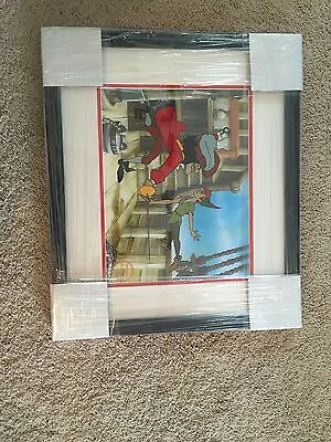 Disney's Peter Pan & Captain Hook Limited Edition Animation Cell Framed