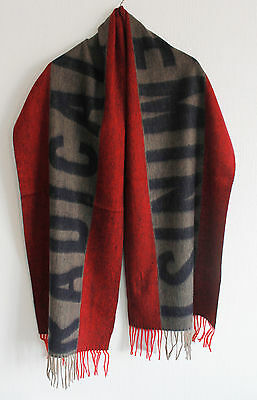 New Acne Studios Radical Feminist Large Lambswool Scarf Red Purple Brown Unisex