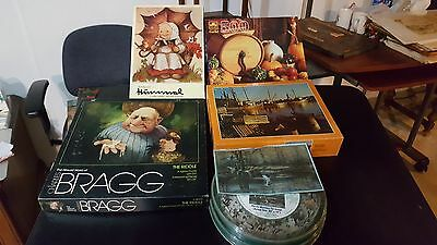 various vintage puzzles lot of 5