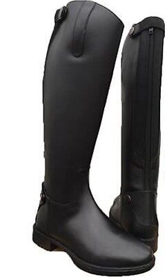 Brogini Long Leather Riding Boots Wide Calf UK Size 7