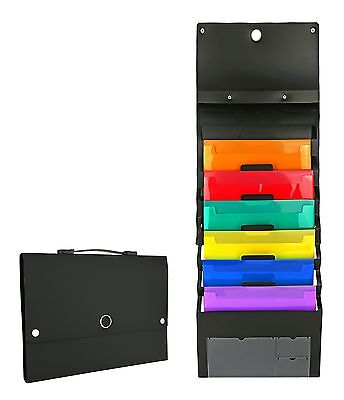 Cascading File Pocket Wall Mount Organizer Folder Storage Holder Office Paper