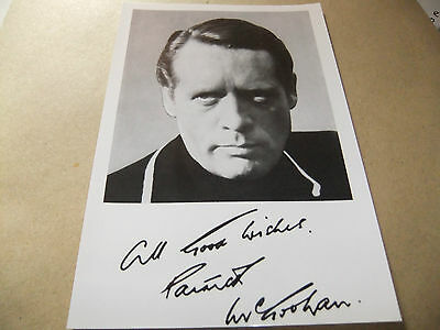 The Prisoner Patrick Mcgoohan Itc Publicity Card Signed